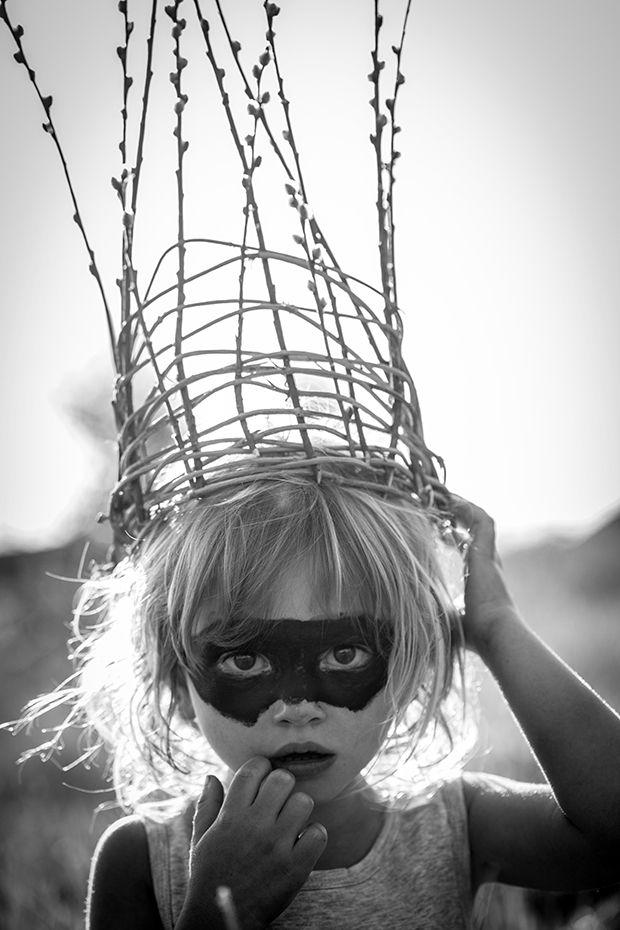 Dark Princess for Halloween - little girl creepy costume - harley quinn as a kid
