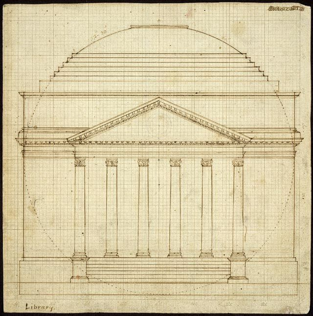 simple architectural sketch for a background element