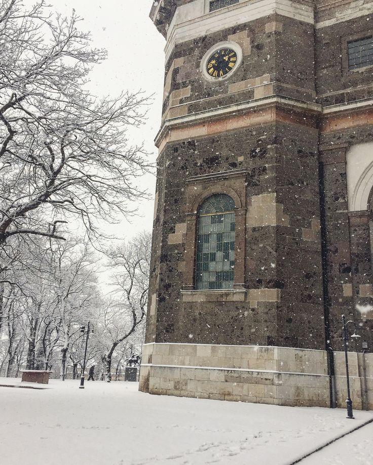 Esztergom Winter Basilica snow photo