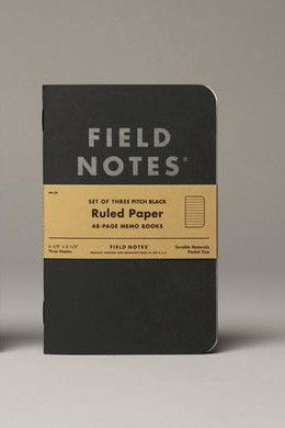 Field Notes Black Ruled Paper 3 Pack