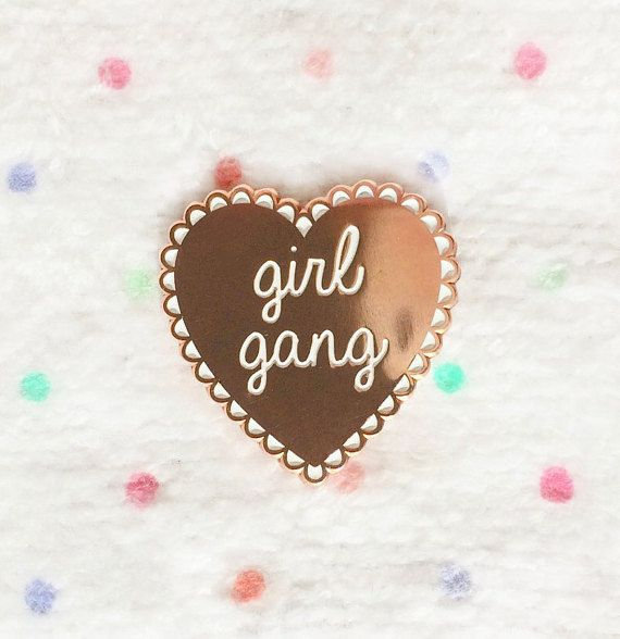 Girl Gang Lapel Pin by witchvisions on Etsy