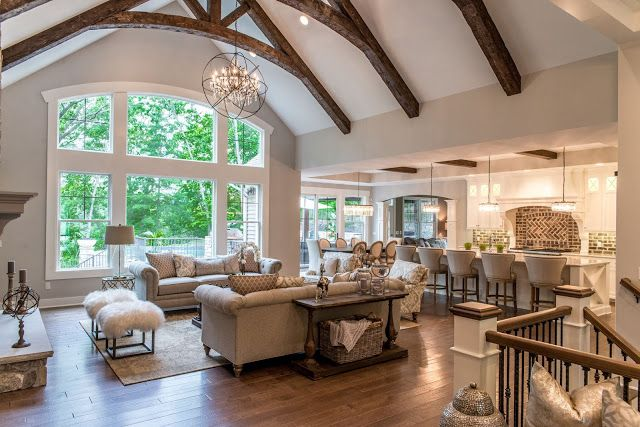Real Fit Housewife: Welcome to my Home: Our Little Slice of Heaven Our great room feels so cozy yet open, perfect for entertaining