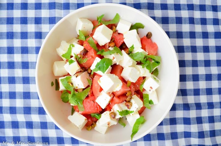 Fantastic salad with watermelon