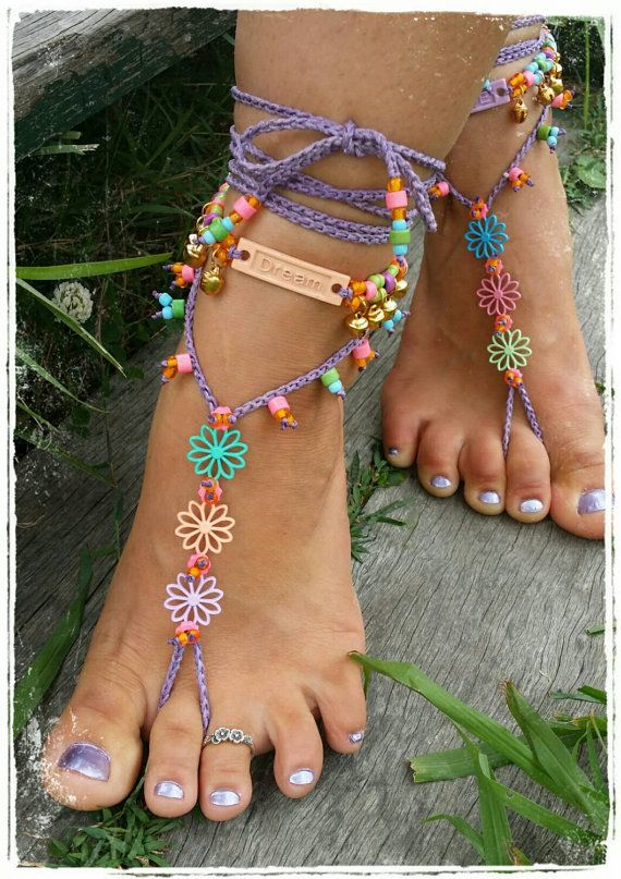 Check out this item in my Etsy shop https://www.etsy.com/listing/214771916/bright-pastel-flower-barefoot-sandals