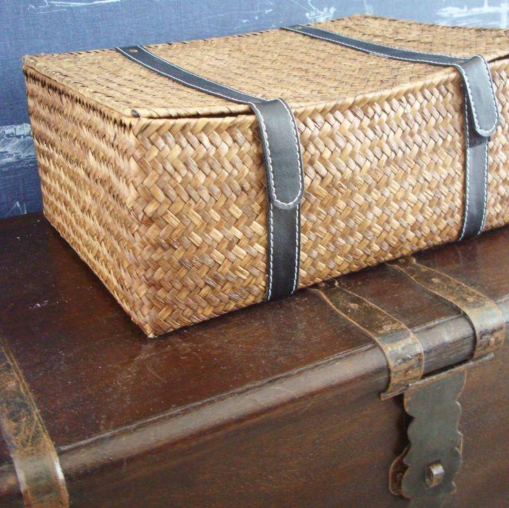 011_Blue bedroom's chest + basket