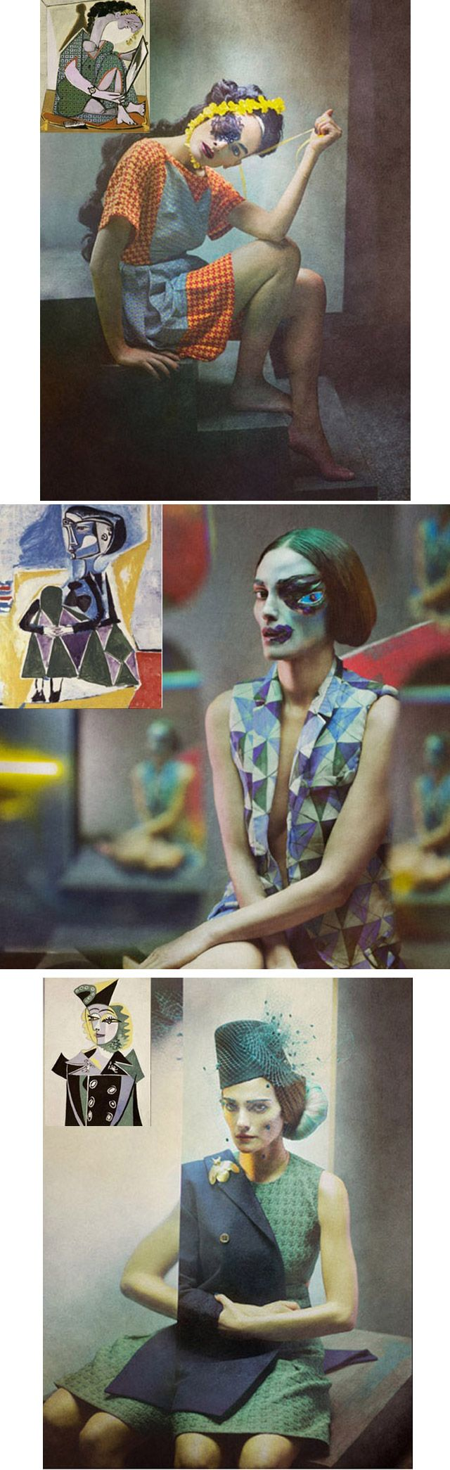 O fotógrafo espanhol Eugenio Recueno fez uma série de fotografias de moda em homenagem às pinturas de Picasso. // The spanish photographer Eugenio Recueno made a series of fashion photographs in homage to Picasso paintings.
