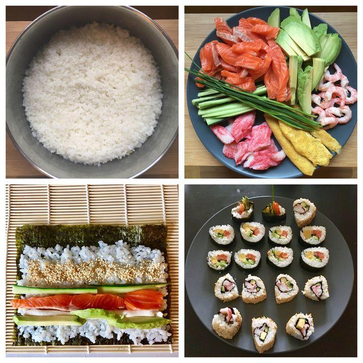 Homemade maki rolls