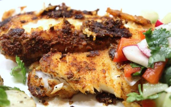 Blackened Tilapia with Radish & Cucumber Salsa - 4 Weight Watchers Points Plus Value