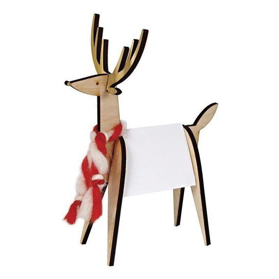 Wooden Reindeer Place Card Holders Christmas Place Cards Wooden Reindeer Christmas Table Decorations