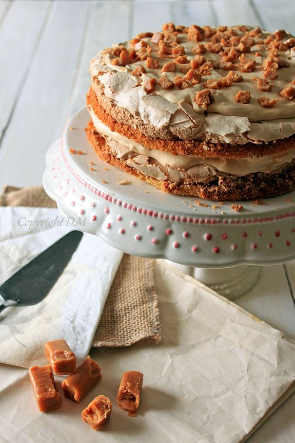 Toffee Meringue Cake