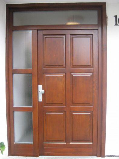 Vchodové dveře dřevěné smrk 19