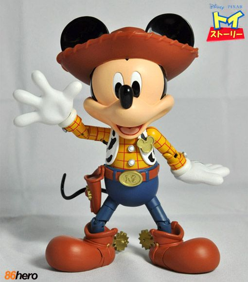 Mickey Mouse x Woody Hybrid Metal Figuration