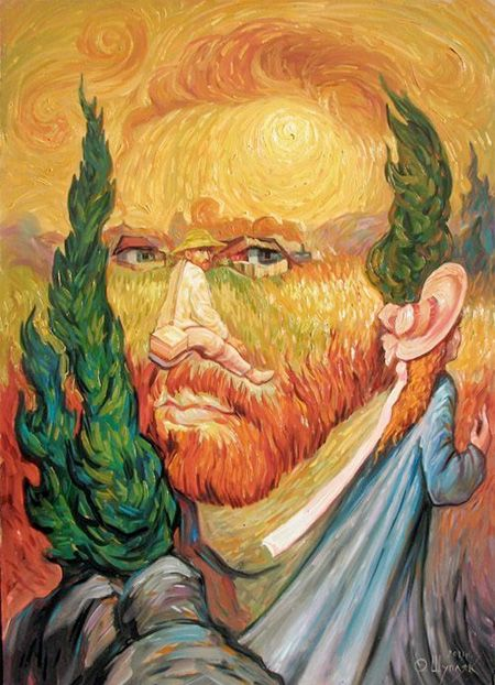 optical illusion van gogh painting