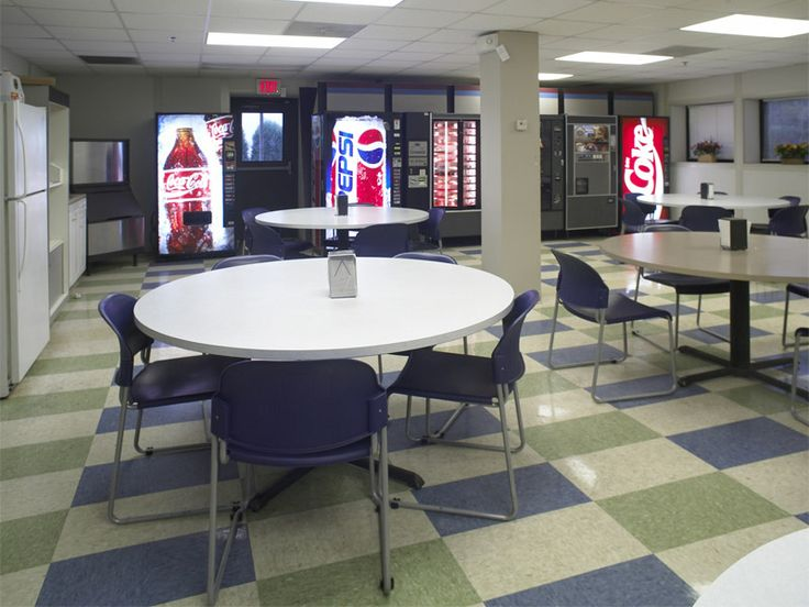 Break room ideas rooms in plant offices portable for Office lunch room design ideas