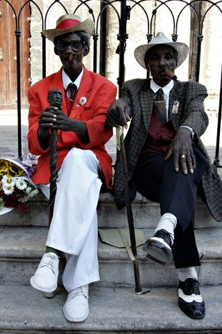 two gentlemen from Havanna. I would love to just sit & talk with these two fine men!...more like characters!