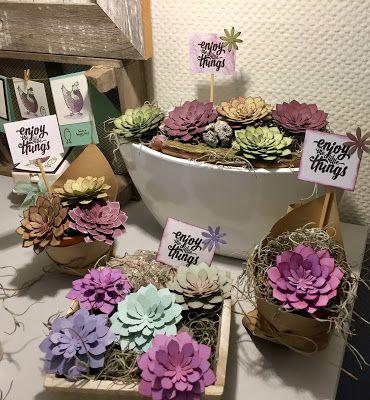 "Laura's Creative Moments: Workshop ""Vetplantjes"" (van papier)"