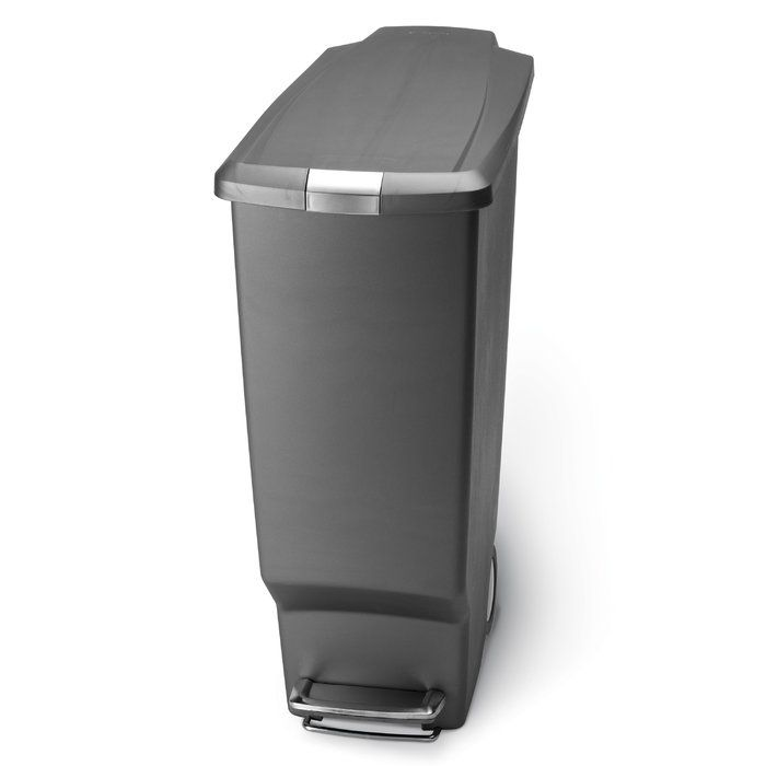 10 6 Gallon Slim Step Trash Can Plastic Reviews Joss Main