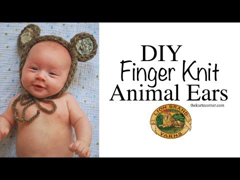 The Kurtz Corner: Finger Knitting - Animal Ears in 30 Minutes!
