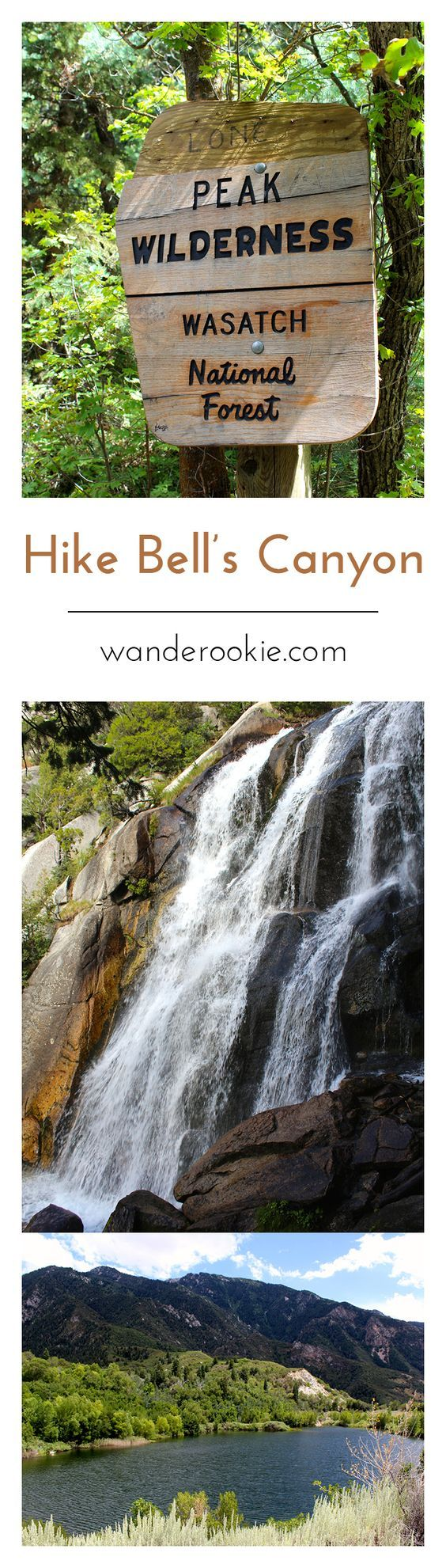 A gorgeous Utah hike near Salt Lake City! This trail leads to a reservoir AND a waterfall! The reservoir trail is kid friendly and the waterfall trail is a bit more strenuous.