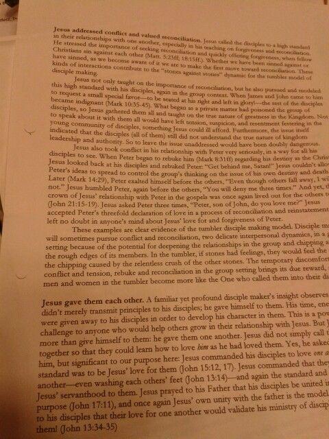 Notes on Jesus' disciple making p1