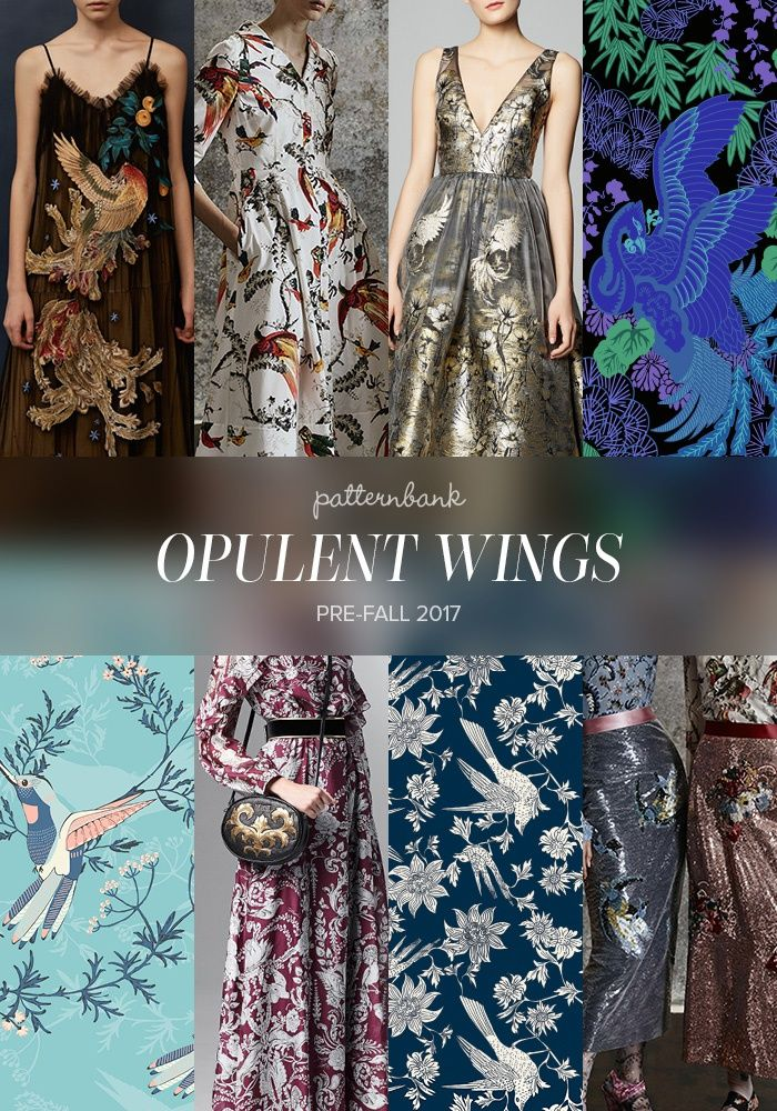 Pre-Fall 2017 Print and Pattern Catwalk Collection Highlights | Patternbank - Opulent Wings