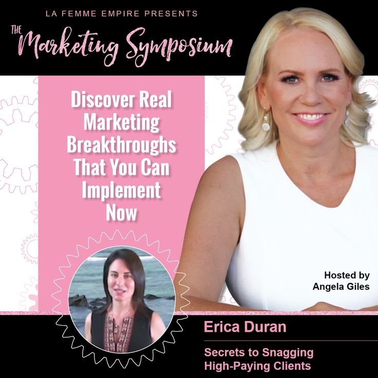 Discover Real Marketing Breakthroughs That You Can Implement Right Now! The host, Angela Giles, has put together a phenomenal list of speakers (including me:). Movers and shakers of the Marketing Industry have gathered to share their juicy tidbits that will help you skyrocket your empire. If you want to step up and level up your marketing game be sure to register for this event. It all starts July 31st! Register HERE: http://www.mcssl.com/app/?Clk=5584188