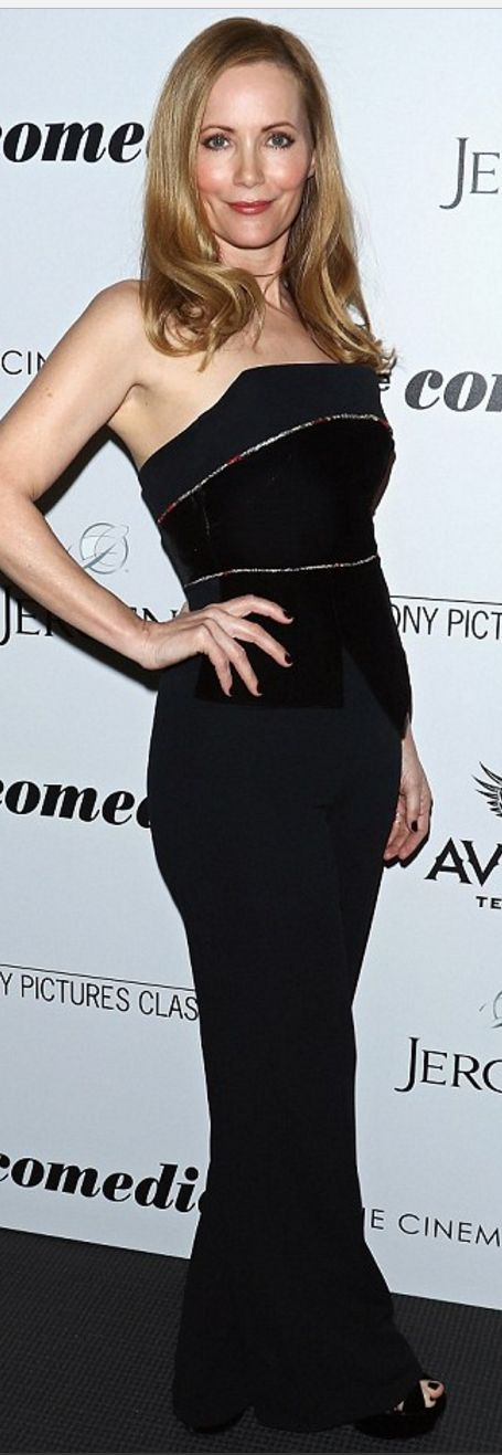 Leslie Mann wearing Tyler, Saint Laurent and RM / Roland Mouret