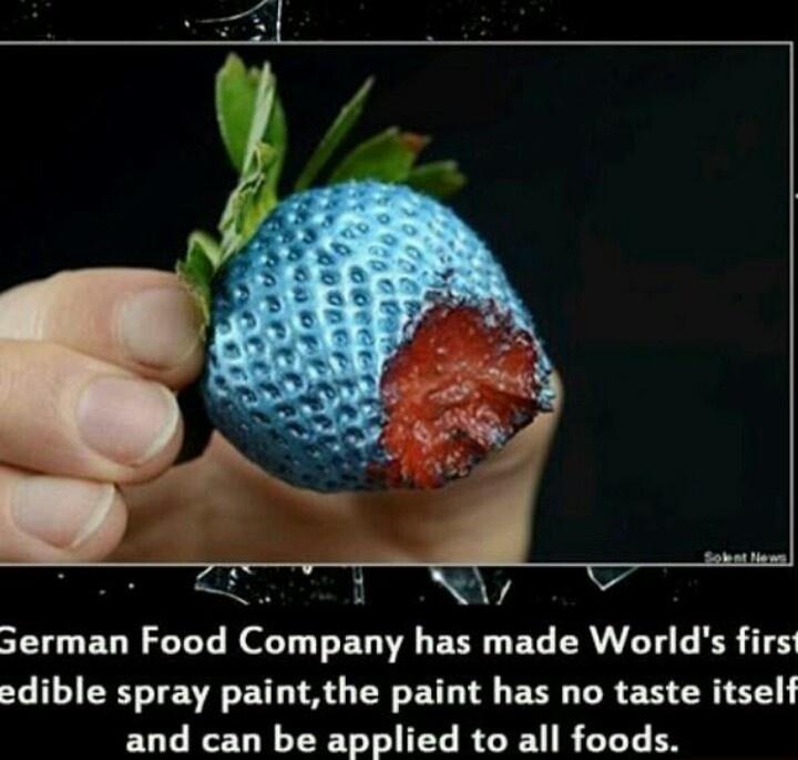 Painted food?