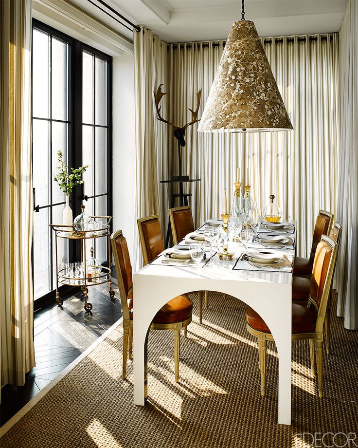 Reaching New Heights ELLE DECORs Designer Visions Showhouse Dining Room