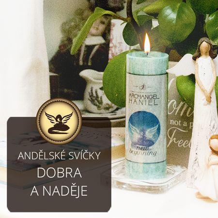 Andělská svíčka - anděl Haniel #andel #magie #svicky