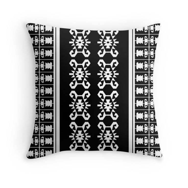 Black And White Balkan Kilim Turtle Inspired Pattern Throw Pillow Perfect For Masculine Home Decor Ideal Gift Him Trends