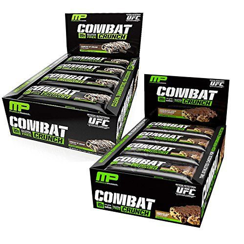 Muscle Pharm Combat Crunch Chocolate Chip Cookie Dough 12 BarsCookies  Cream 12 Bars * You can get additional details at the image link-affiliate link.