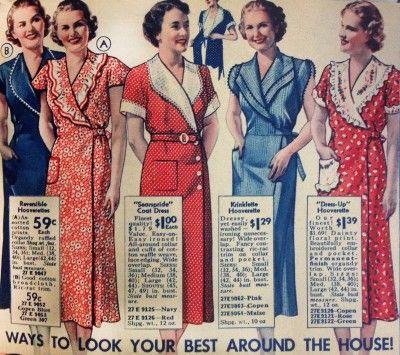 1930's House Dresses and Fabrics