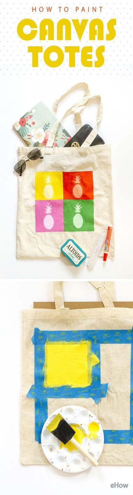 55 Ideas Painting Fabric Canvas Tote Bags