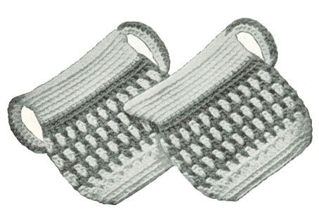 Free Vintage Sugar 'N Cream Potholders Pattern - make up in colors to match your kitchen