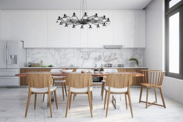 Modern Kitchen Marble Backsplash uppers hang higher than usual? artistic home decorations for
