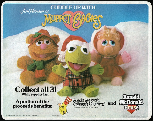 McDonalds Muppet Baby Christmas Plush!  I had all of these!!