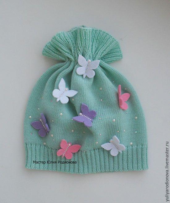 Купить Весенняя мериносовая шапочка - бирюзовый, однотонный, шапочка для девочки, шапочка вязаная, шапка детская