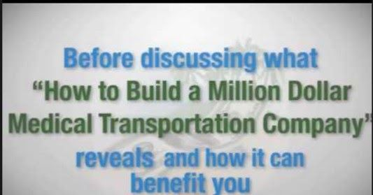 """http://ift.tt/2taXlHO ==>How To Build A Million Dollar Medical Transportation CompanyHow To Build A Million Dollar Medical Transportation Company : http://ift.tt/2tAatJR  Often referred to as the """"Bible of the Industry"""" this best-selling 315 page manual is offered in ebook format to be downloaded immediately following your investment. From start to finish you will discover all of the licensing and registration requirements necessary to build your successful medical transportation business…"""