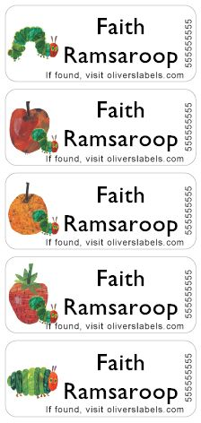 Personalized waterproof labels from www.oliverslabels.com    Original Labels