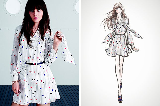 """Our Spring Fling = Zooey Deschanel's New Line of Dresses Called """"To Tommy, From Zooey,"""" the 16-piece Tommy Hilfiger collaboration shows off the actress's design skills with flirty, mod dresses that look very Zooey"""
