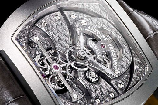 "ANTOINE PREZIUSO the art of tourbillon ""dragon scales"""