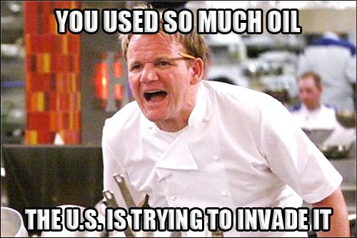 Gordon Ramsay Angry Kitchen OIL INVADE. Best of Gordon Ramsay - Angry Chef Meme | Comics and Memes