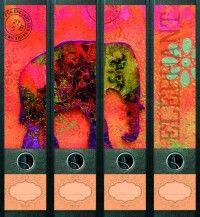 naklejki na segregator: Elephant (File Art) Dla miłośniczki Bollywoodu. Nowy image Twoich segregatorów kosztuje 19,90 zł. A ile frajdy!