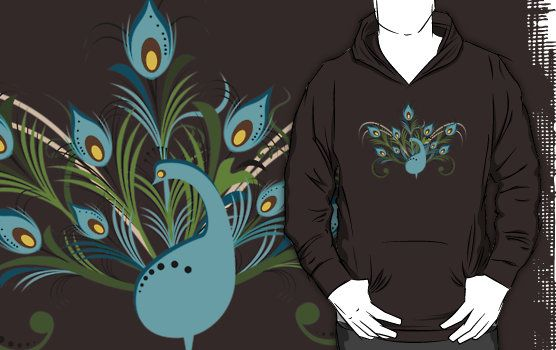"""Just a Peacock - Tee"" T-Shirts & Hoodies by ruxique 