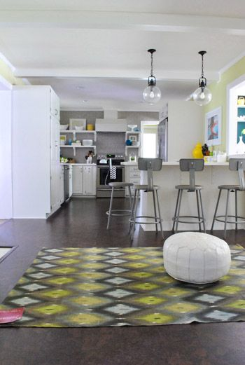 I would like this kitchenHome, Colors Pop, Ikat Rugs, Fashion, House Ideas, Modern Kitchens, Kitchens Rugs, Future Cribs, Rugs Diy