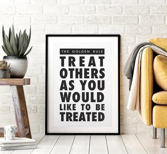 The Golden Rule Printable Wall Art Sign Matthew 7 12 Etsy Printable Wall Art Etsy Printable Wall Art Printable Quotes
