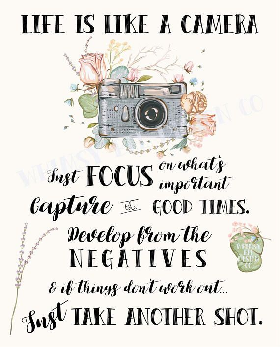 Life Is Like A Camera Quote Camera Gift For Photographer Etsy Camera Quotes Camera Quotes Inspiration Quotes About Photography