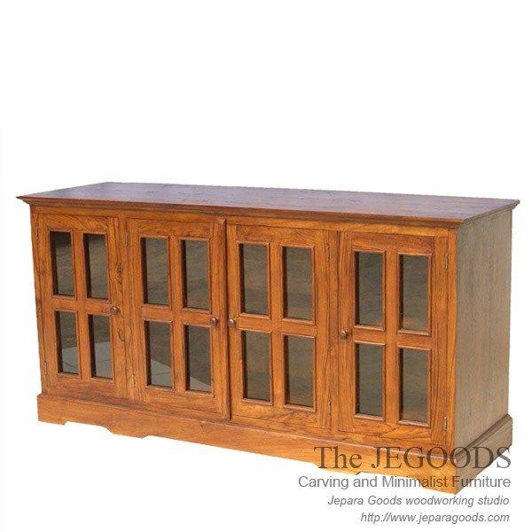 Andora Teak Buffet by Jegoods Woodworking Studio Furniture Indonesia.  Teak buffet modern minimalist contemporary furniture by The Jepara Goods Woodworking Studio Indonesia.   Buffet jati minimalis modern 4 pintu.