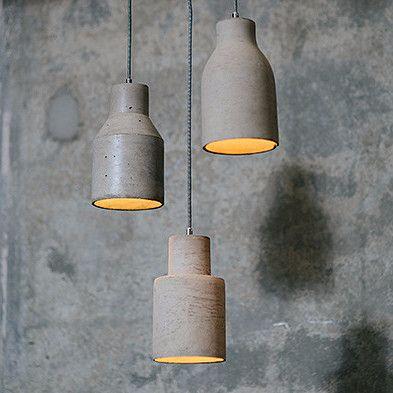 Concrete Pendant Lights   Assorted Shapes